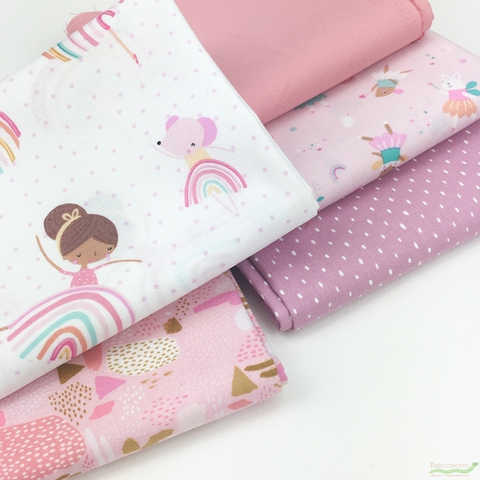 Fabricworm Custom Bundle, Dance All Day in HALF YARDS 10 Total