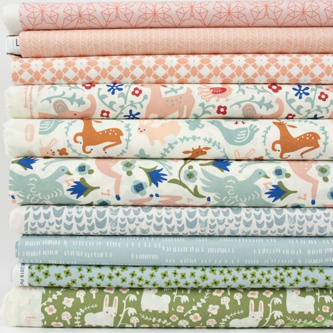 Fabricworm Custom Bundle, Enchanted Encounter in HALF YARDS 10 Total