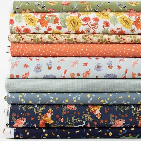 Fabricworm Custom Bundle, Fall Foraging in FAT QUARTERS 9 Total