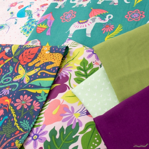 Fabricworm Custom Bundle, Festival Fun in HALF YARDS 7 Total
