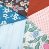 Fabricworm Custom Bundle, Floral Breeze in FAT QUARTERS 6 Total (PRECUT)