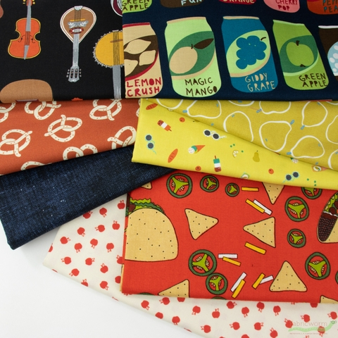 Fabricworm Custom Bundle, Food Festival in FAT QUARTERS 8 Total