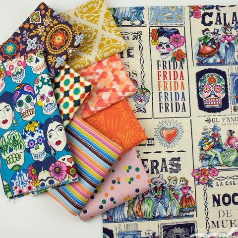 Fabricworm Custom Bundle, Frida Forever in FAT QUARTERS 9 Total (PRECUT)