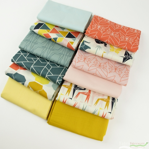 Fabricworm Custom Bundle, Geogami Mommy in FAT QUARTERS 12 Total