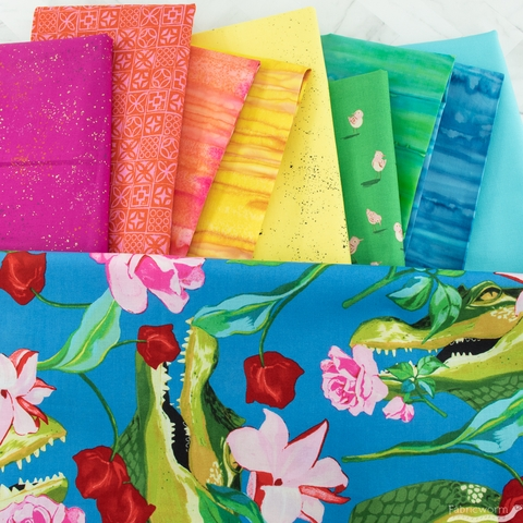 Fabricworm Custom Bundle, Glamorous Gators 8 Total
