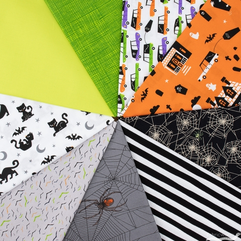 Fabricworm Custom Bundle, Hallow Haunts in HALF YARDS 9 Total