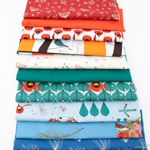Fabricworm Custom Bundle, Holiday Happiness in FAT QUARTERS 10 Total