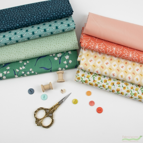 Fabricworm Custom Bundle, Lily Valley in FAT QUARTERS 8 Total