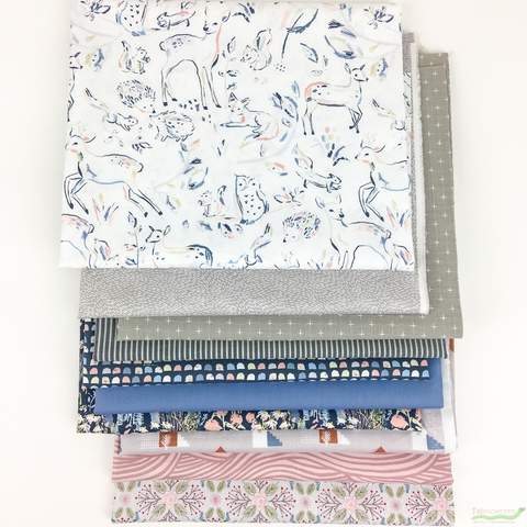 Fabricworm Custom Bundle, Little Deer in HALF YARDS 10 Total
