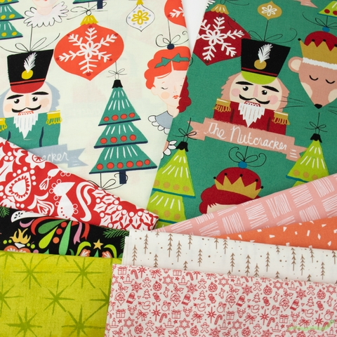 Fabricworm Custom Bundle, Merry Days in HALF YARDS 9 Total