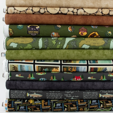 Fabricworm Custom Bundle, Nighttime Adventure in FAT QUARTERS 11 Total