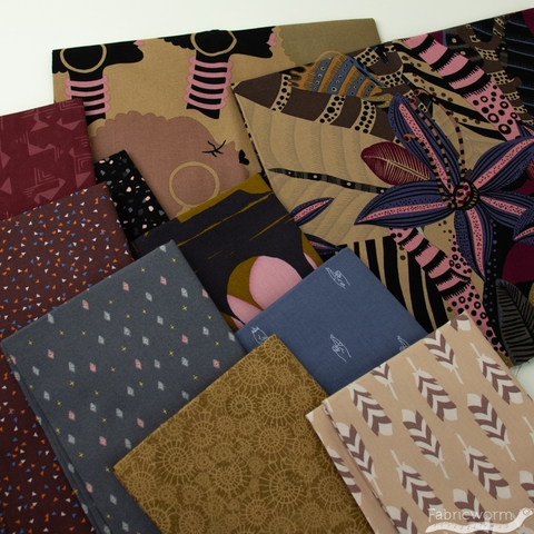 Fabricworm Custom Bundle,  On The Town in  FAT QUARTERS 10 Total (PRECUT)