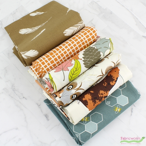 Fabricworm Custom Bundle, ORGANIC, Backyard Birding 5 Total