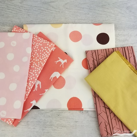 Fabricworm Custom Bundle, ORGANIC, Dot Dot Dot in FAT QUARTERS 6 Total (PRECUT)