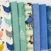 Fabricworm Custom Bundle, ORGANIC, Hen House in FAT QUARTERS 7 Total (PRECUT)