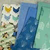 Fabricworm Custom Bundle, ORGANIC, Hen House in HALF YARDS 7 Total
