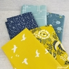 Fabricworm Custom Bundle, ORGANIC, Merry Meadow in FAT QUARTERS 5 Total (PRECUT)
