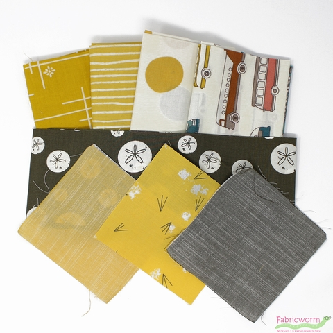 Fabricworm Custom Bundle, ORGANIC, Site Seeing in FAT QUARTERS 8  Total