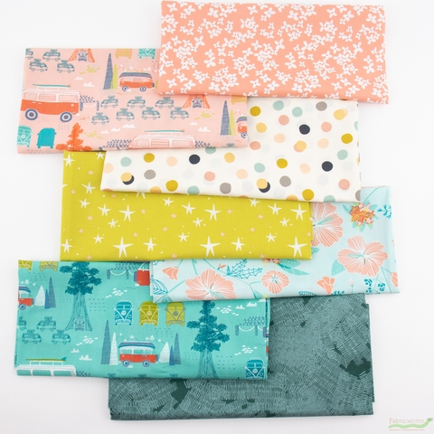 Fabricworm Custom Bundle, Pacific Road Trip in FAT QUARTERS 7 Total