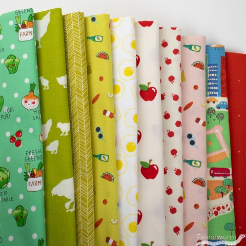 Fabricworm Custom Bundle,  Pack a Picnic in  FAT QUARTERS 10 Total