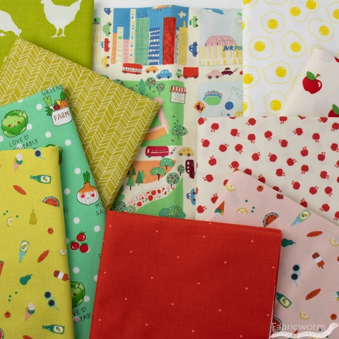 Fabricworm Custom Bundle, Pack a Picnic in HALF YARDS 10 Total