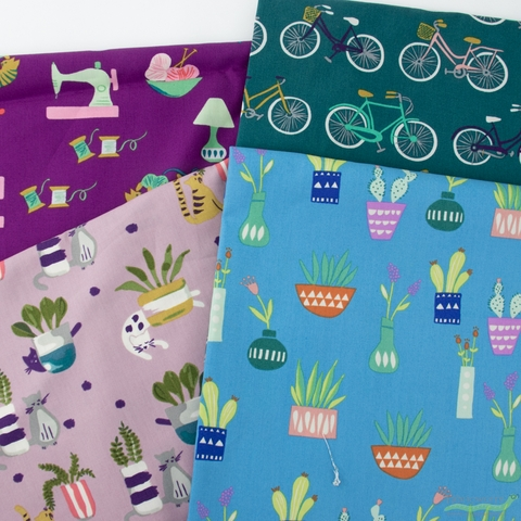 Fabricworm Custom Bundle, Saturdaze in FAT QUARTERS 11 Total (PRECUT)