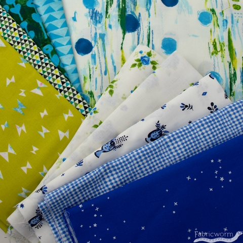 Fabricworm Custom Bundle, Spring Walk in HALF YARDS 10 Total