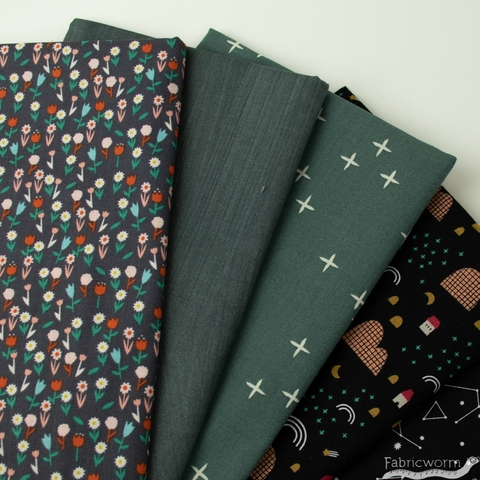 Fabricworm Custom Bundle, Stargazer Fields in  FAT QUARTERS 9 Total (PRECUT)