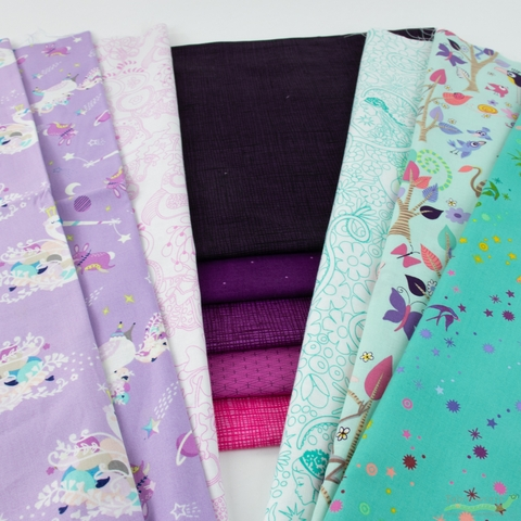 Fabricworm Custom Bundle, Starwhal Adventure in FAT QUARTERS 11 Total