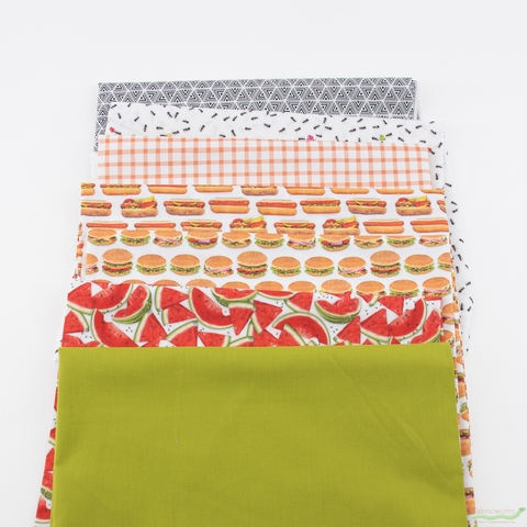 Fabricworm Custom Bundle, Summer Cookout in FAT QUARTER 7 Total