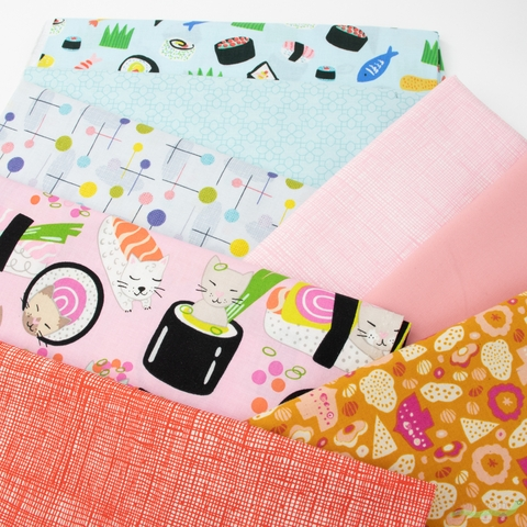 Fabricworm Custom Bundle, Sushi Special in FAT QUARTERS 8 Total