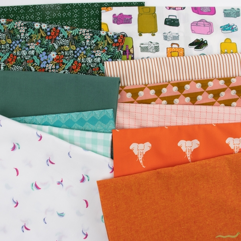 Fabricworm Custom Bundle, Time for Travel in HALF YARDS 12 Total