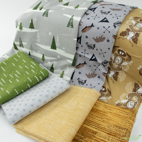 Fabricworm Custom Bundle, Time to Fish in FAT QUARTERS 7 Total