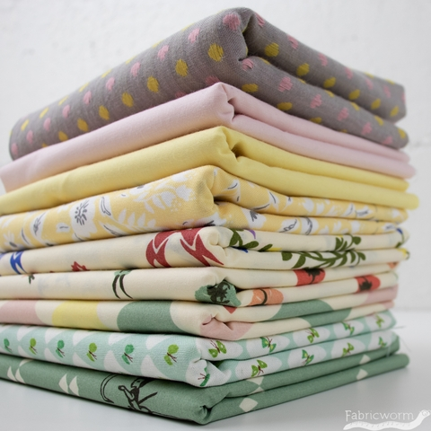 Fabricworm Custom Bundle, Tiny Dancer in HALF YARDS 9 Total