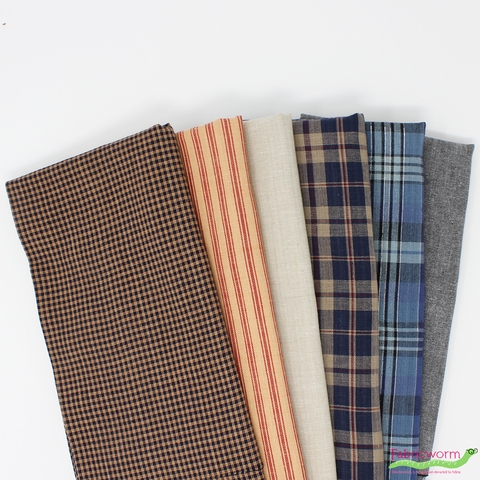 Fabricworm Custom Bundle, Yarn-Dyed Picnic in FAT QUARTERS 6 Total