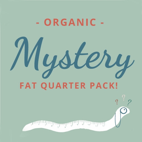 Fabricworm Organic Mystery Fat Quarter Pack 3 Total