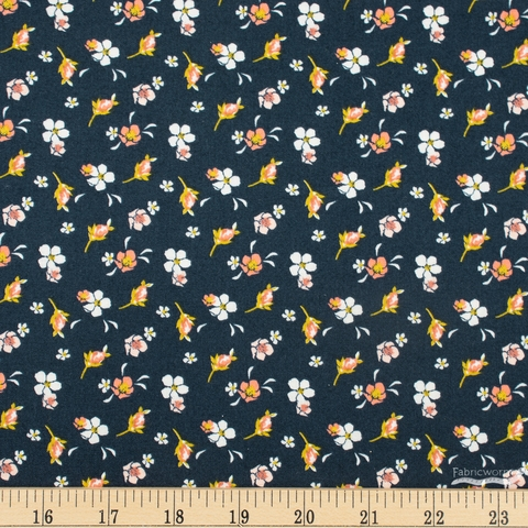 Fancy Pants Designs for Riley Blake, Golden Days, Floral Navy