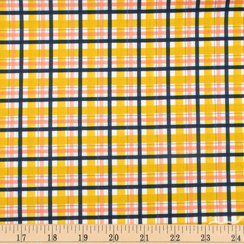 Fancy Pants Designs for Riley Blake, Golden Days, Plaid Mustard