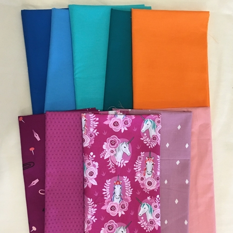 Fat Quarter Destash Bundle - Unicorn Puff - FQD 11