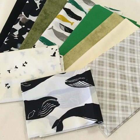 Fat Quarter Destash Bundle - Whale Pod - FQD 8