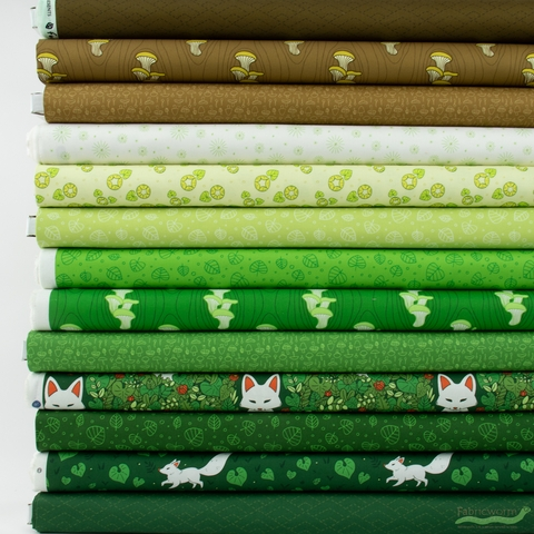 Felice Regina for Windham, Forest Spirit, Pine in HALF YARDS 13 Total