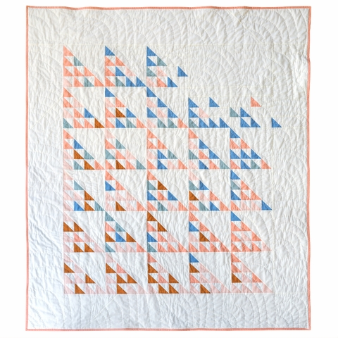 Fly Away Quilt Kit Featuring Birch Organic Solids (PRECUT)