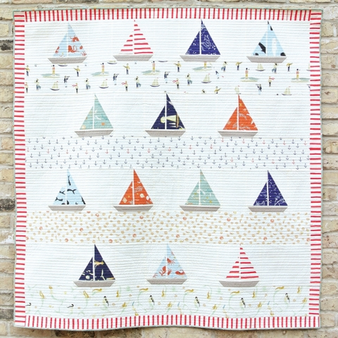 Free Pattern|Ahoy Sailor Quilt|By Suzy Williams