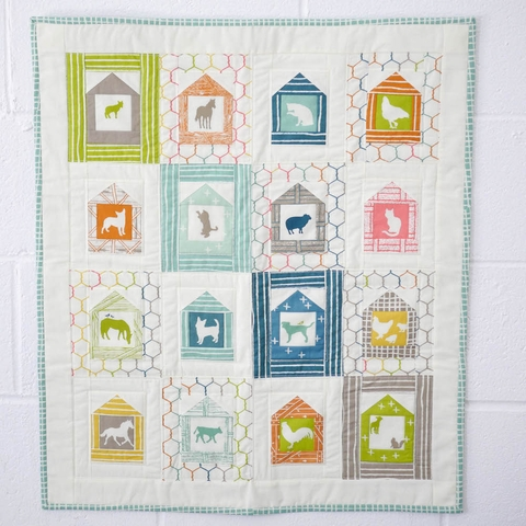 Free Pattern|Farm Fresh Mini Quilt|by Keiko Vogel