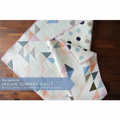Free Pattern|Indian Summer Quilt|By Suzy Williams
