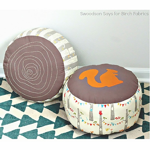 Free Pattern|Log Slice Pouf by Swoodson Says