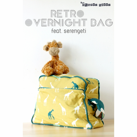 Free Pattern|Retro Overnight Bag by The Crafty Kitty