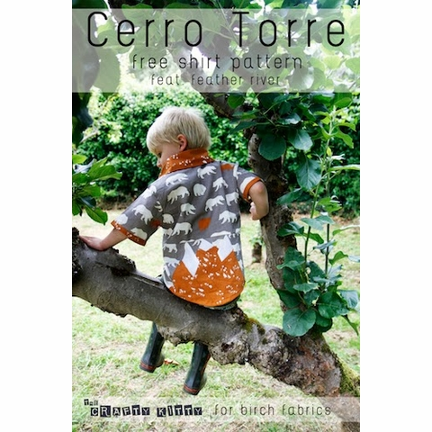Free PDF Pattern|Cerro Torre Shirt|by The Crafty Kitty