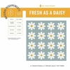 Fresh As A Daisy Lavender Quilt Kit Featuring Birch Organic Solids