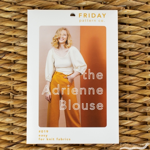 Friday Pattern Company, Sewing Pattern, Adrienne Blouse
